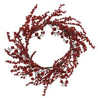 "24"" Mixed Red Gooseberry Berry Wreath"