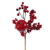 "12"" Red-Burg Apple Berry Outdoor Pick"