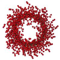 "28"" Red Gooseberry Outdoor Wreath"