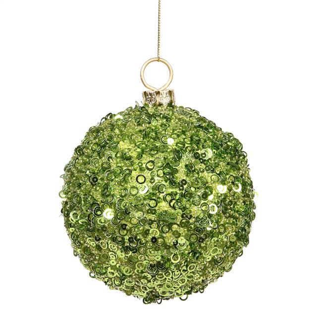 "4.75"" Lime Jewel Ball W/String"