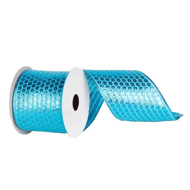 "2.5"" X 10yd Turquoise Dot"