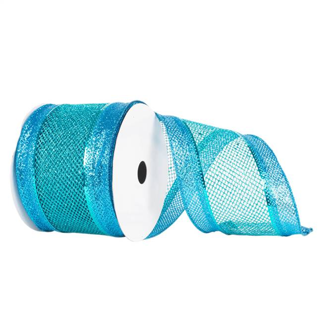 "4"" X 10yd Blue Diamond Mesh Edged"