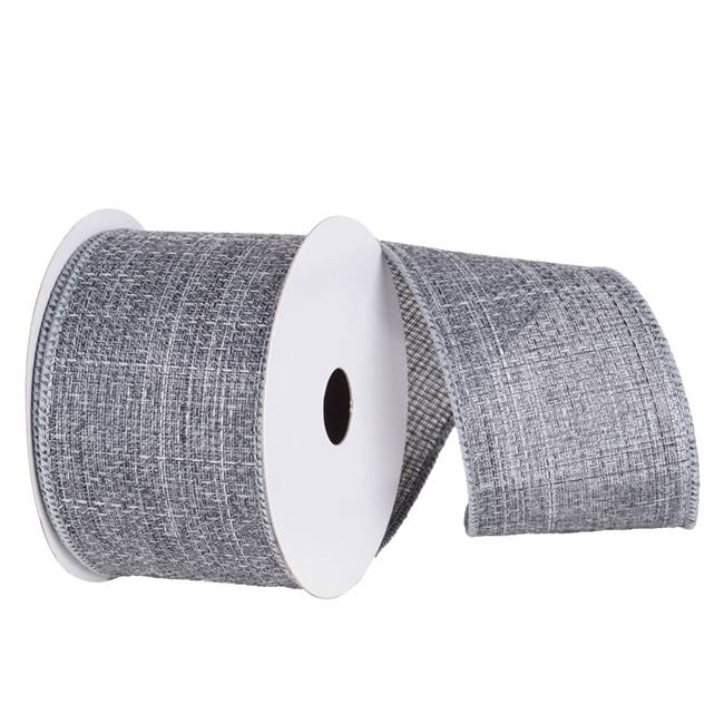 "2.5"" x 10yd Pewter Soft Woven Burlap"