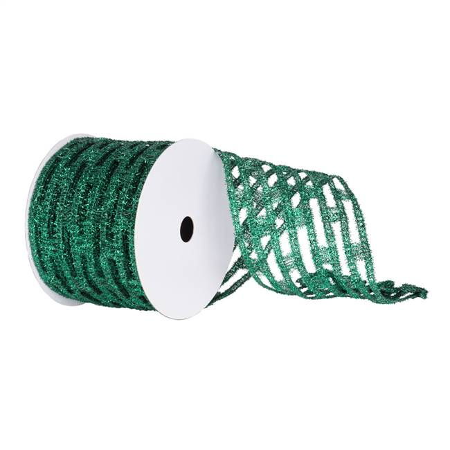 "6"" Emerald Metallic Rectangle Wired Mesh"