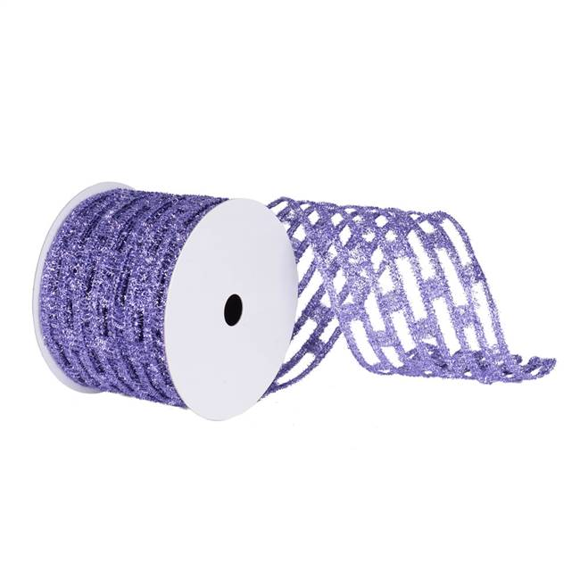 "4"" Lavender Metallic Rect Wired Mesh"