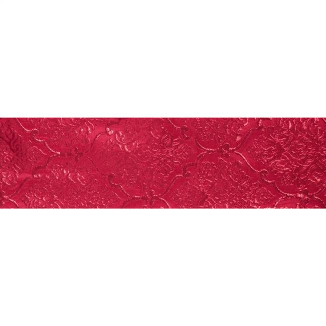 "4"" x 10Yd Red Red Damask Jacquard"