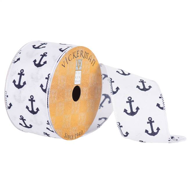 "2.5"" x 10yd White Navy Anchors"