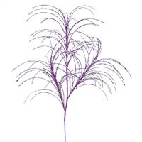 "34"" Purple Glitter Grass Spray 6/Bag"