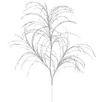 "34"" Silver Glitter Grass Spray 6/Bag"