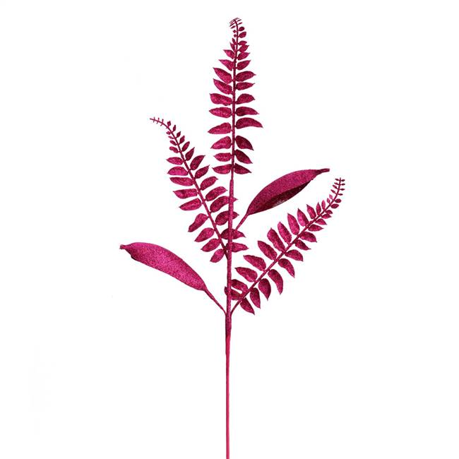 "33"" Berry Red Fern Leaf Spray 6/Bag"