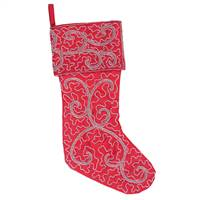 "8"" x 19"" Filigree Scroll Stocking"