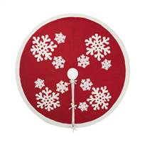 "60"" Felt Flakes Collection Tree Skirt"