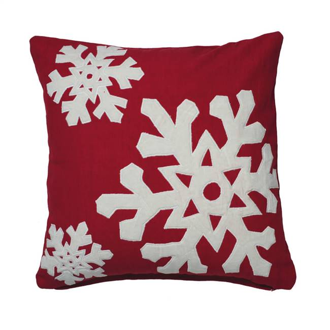 "18"" x 18"" Felt Flakes Collection Pillow"