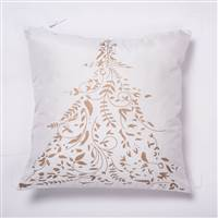 "18"" x 18"" Gold Stamped Tree Pillow"