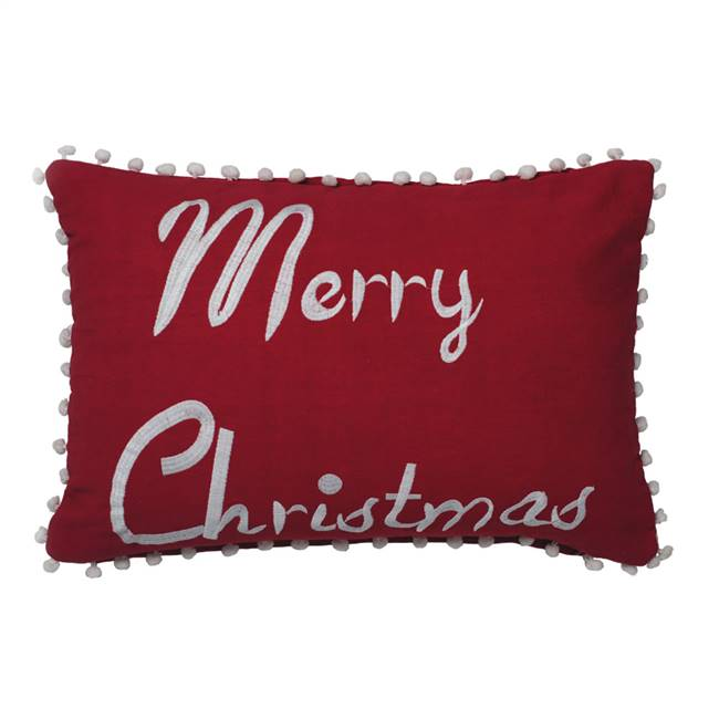 "14"" x 20"" Merry Christmas Pillow"