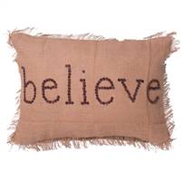 "14"" x 20"" Holiday Words Believe Pillow"