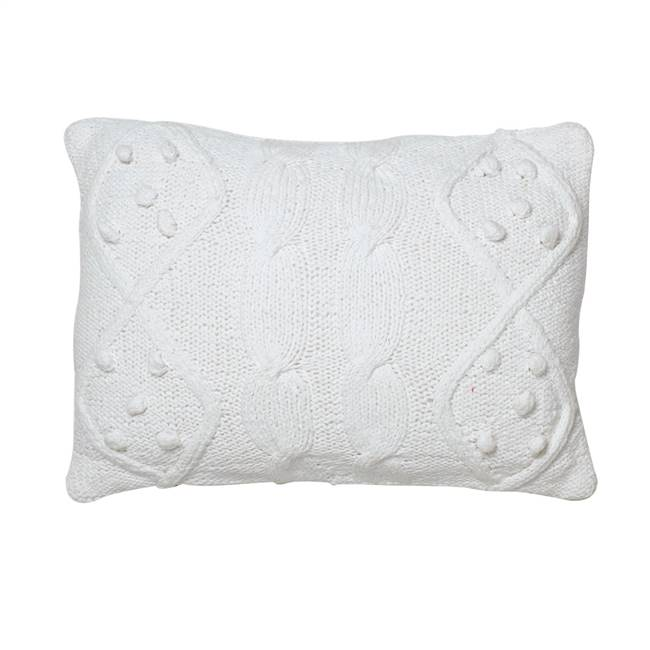 "14"" x 20"" French Knot Cushion Pillow"