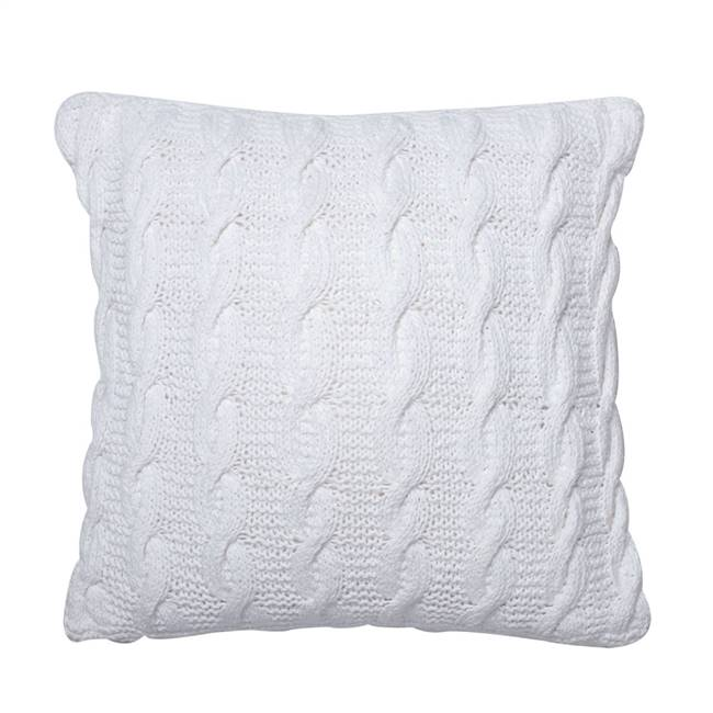 "18"" x 18"" Cable Knit Cushion Pillow"