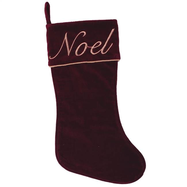 "8"" x 19"" Noel Collection Stocking"