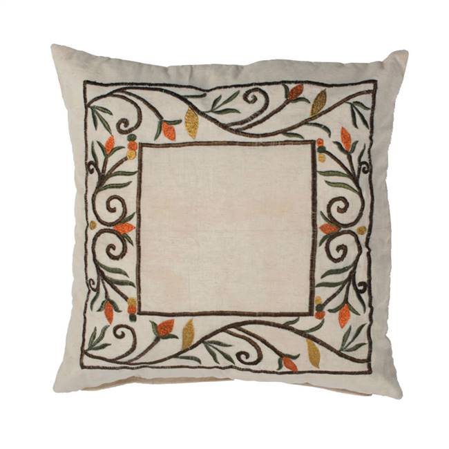 "18"" x 18"" Harvest Border Pillow"