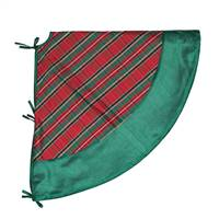 "52"" Red/Green Plaid Treeskirt Green Trim"