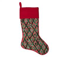 "20"" Red/Green Sequin Pattern Stocking"