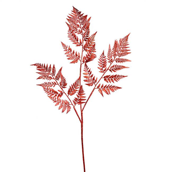 "42"" Red Shiny Fern Spray 2/Bag"