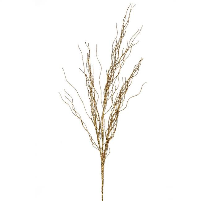 "42"" Gold Glitter Twig Spray 4/Bag"
