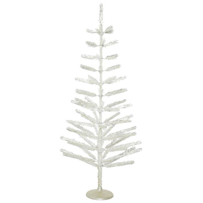 "5' x 24"" Silver Feather Tree 70T"