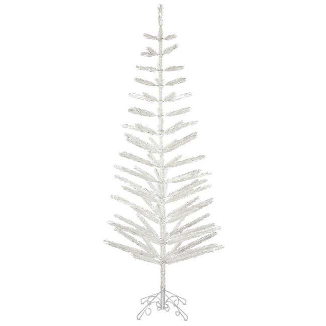 "6' x 28"" Silver Feather Tree 86Tips"