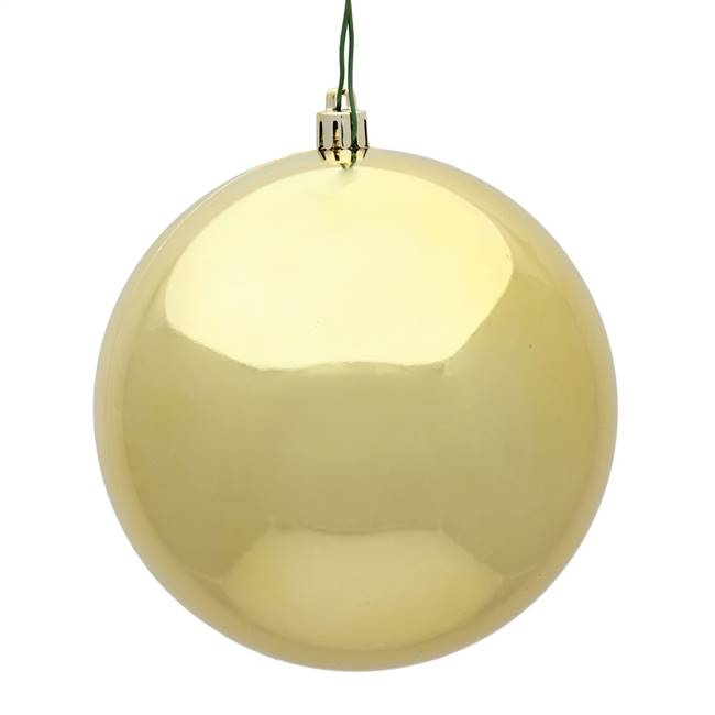 "4"" Gold Shiny Ball Drilled 6/Bag"