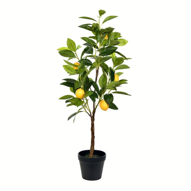 "28"" Potted Lemon Tree Real Touch Leaves"