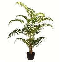 "35"" Potted Fern Palm Real Touch Leaves"