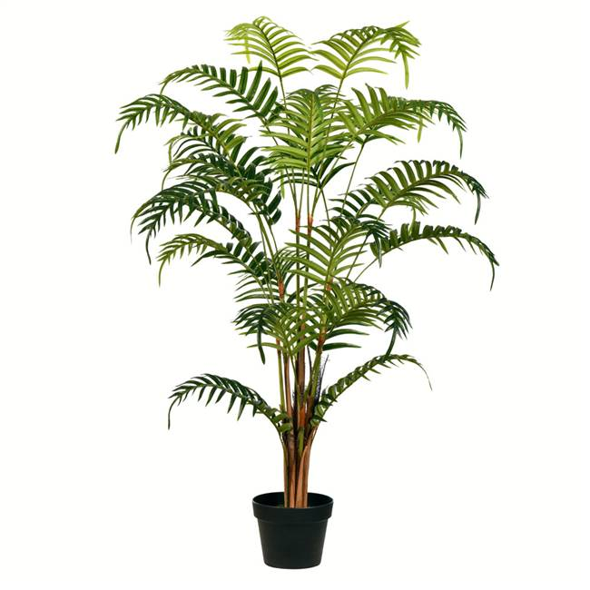 "47"" Potted Fern Palm Real Touch Leaves"
