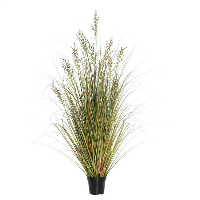 "48"" Green and Brown Grass in Pot"