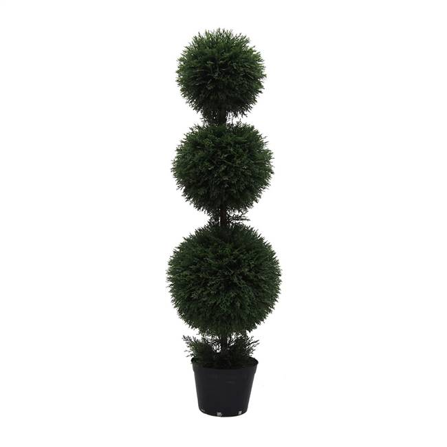 4' Cedar Triple Balls In Pot (UV)
