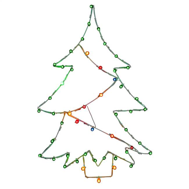 "48"" x 32"" Christmas Tree C7 Wire Motif"