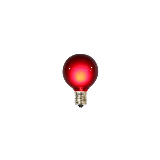 10 Pk Red G50 Bulbs for E17/C9 Socket