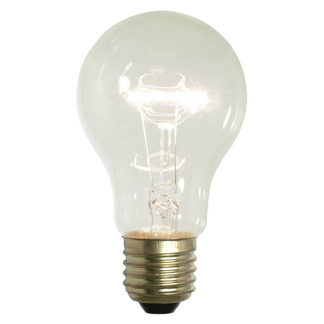 Clear Trans Med Base 130V 25 Watt Bulbs