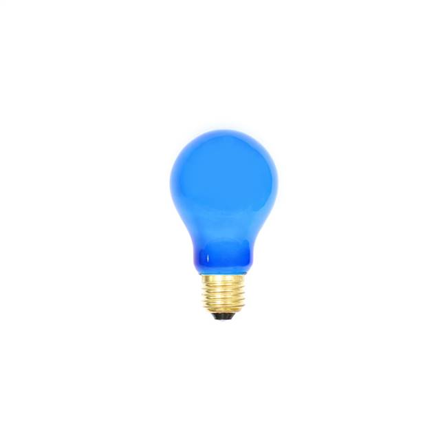 Blue Ceramic Med Base 130V 25 Watt Bulbs