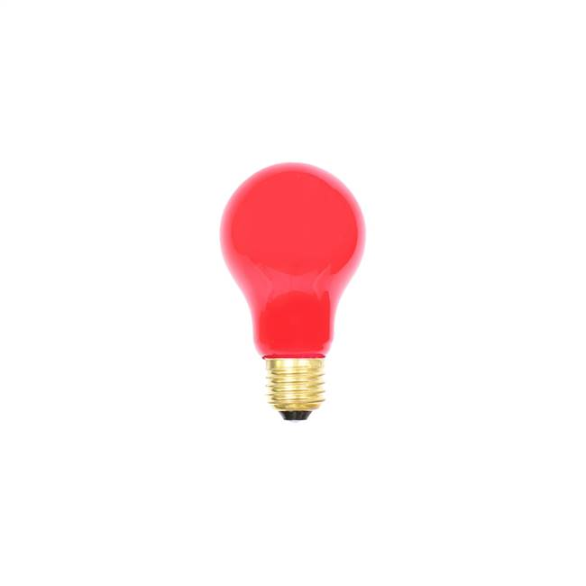 Red Ceramic Med Base 130V 25 Watt Bulbs