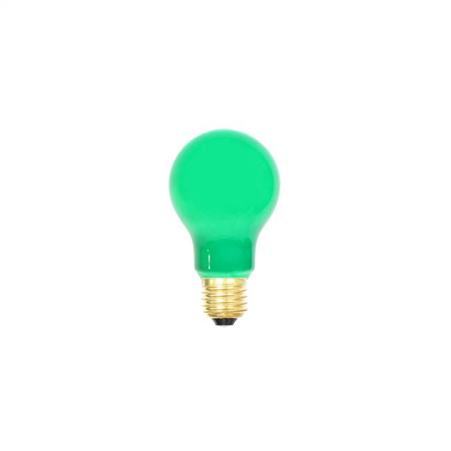 Green Ceramic Med Base 130V 25 Watt Bulb