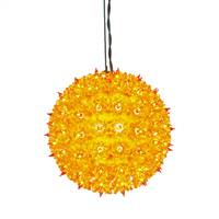 "100Lt x 7.5"" Orange Twinkle Star Sphere"