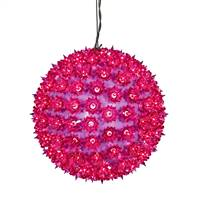 "150Lt x 10"" Purple Twinkle Star Sphere"