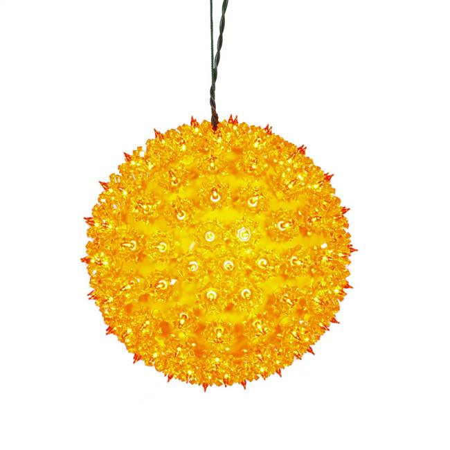 "150Lt x 10"" Orange Twinkle Star Sphere"