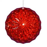 "30Lt x 6"" LED Red Crystal Ball Outdoor"