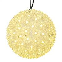 "50Lt x 6"" LED WmWht Twinkle Star Sphere"