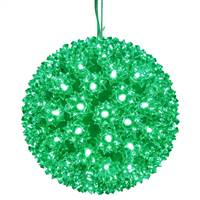 "50Lt x 6"" LED Green Starlight Sphere"
