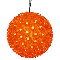 "50Lt x 6"" LED Orange Starlight Sphere"