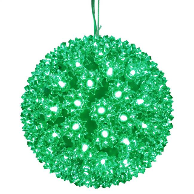 "100Lt x 7.5"" LED Green Starlight Sphere"